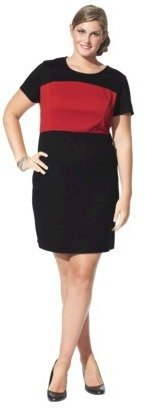 Mossimo Petites Short-Sleeve Ponte Color block Dress - Assorted Colors