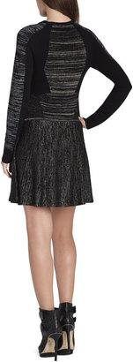 BCBGMAXAZRIA Jennings Geometric Intarsia Dress
