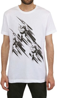 Karl Lagerfeld Printed Heads Cotton T-Shirt