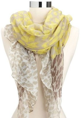 Charlotte Russe Vibrant Leopard Lightweight Scarf
