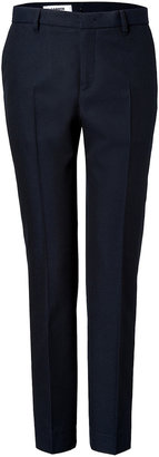 Jil Sander Cotton-Wool Paolo Pants in Navy