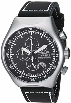 Avio Men's 45 MM TYPE S Aluminum Case Chronograph Tachymeter Date Watch