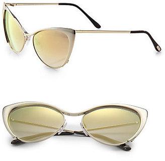 Tom Ford Nastasya Metal Cat's-Eye Sunglasses