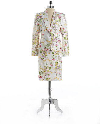 Tahari ARTHUR S. LEVINE Two-Piece Floral Print Skirt Suit