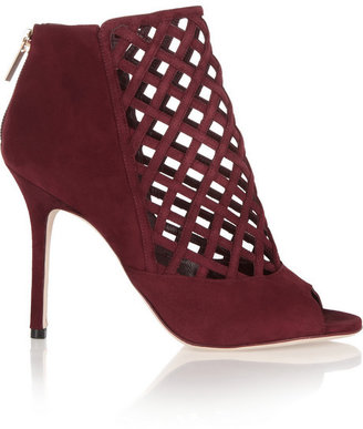Jimmy Choo Drift woven suede cage boots