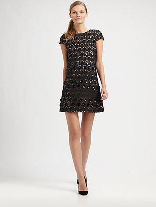 Catherine Malandrino Patent Leather-Detail Dress