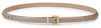 Valentino Studded Patent Leather Belt
