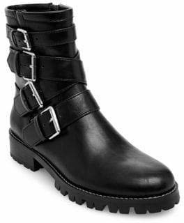 Lord & Taylor Design Lab Teagan Buckled Combat Boots