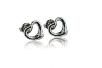 Tiffany & Co. excellent (EX Elsa Peretti Open Heart Sterling Silver Earrings