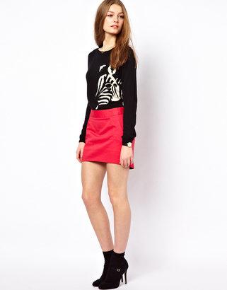 A/Wear A Wear Dip Hem Pocket Skirt