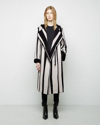 Acne Studios Tria Long Jacquard Coat $2,100 thestylecure.com
