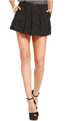 Monroe Marilyn Juniors Shorts, Lace Skorts