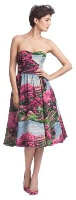 Tracy Reese Strapless Printed Dress