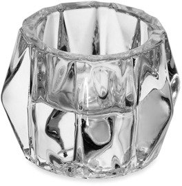 Mikasa 3-Inch Triangle Pointed Sides Clear Glass Tealight Holder