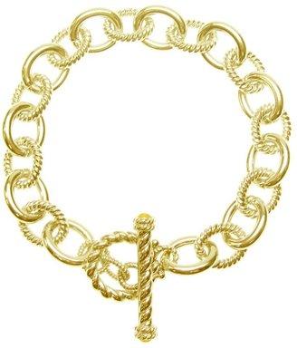"""Judith Ripka Astor 7"""" Link Bracelet, Sterling 14K Clad"""