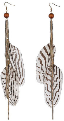 Topshop Zebra Feather Drops