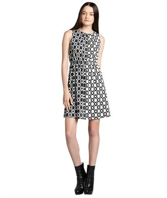 Julie Brown JB by black and white jersey knit 'Gilly' pretzel print shift dress
