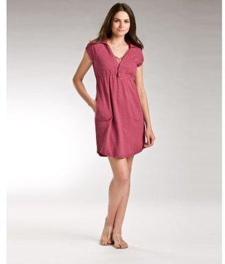 DKNY Short Sleeve Hooded Popover Dress