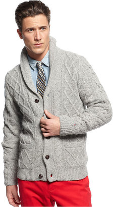 Tommy Hilfiger Sweater, Aran Shawl Cardigan Sweater