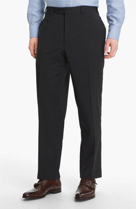 Canali Flat Front Wool Trousers $375 thestylecure.com