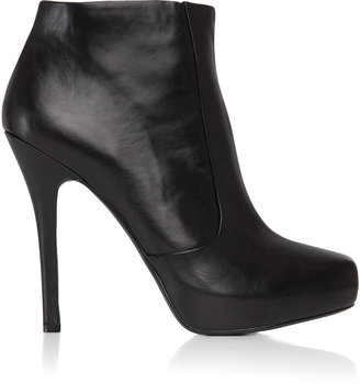 House Of Harlow Leslie Leather Zip Ankle Boot