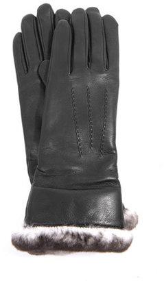 Agnelle Fur trimmed leather gloves