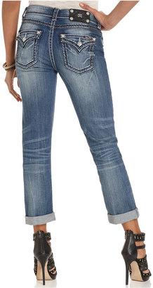 Miss Me Jeans, Straight-Leg Boyfriend Flap-Pocket