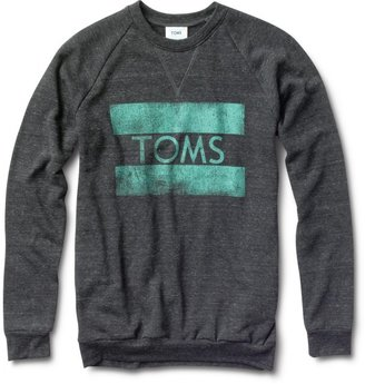 Toms Unisex heather black classic crew