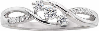 MODERN BRIDE Love Lives Forever 1/5 CT. T.W. Diamond Three-Stone Promise Ring