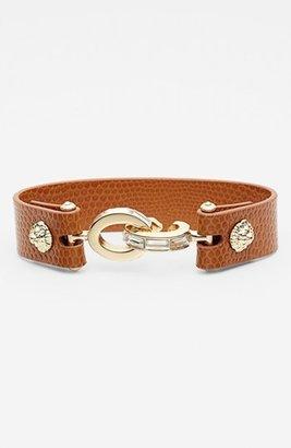 Anne Klein Leather & Link Bracelet