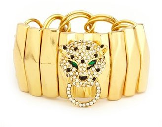 Charlotte Russe Rhinestone Panther Stretch Bracelet
