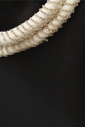 Balmain Embellished silk top