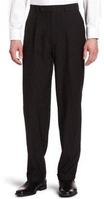 Geoffrey Beene Mens Black Stripe Suit Separate Pant