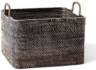 west elm Modern Weave Oversize Storage Bin - Blackwash