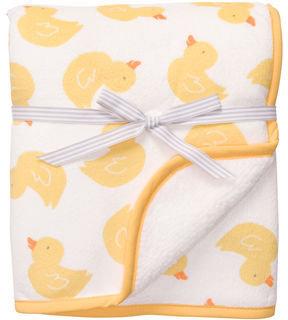 Carter's Yellow Duck Boa Blanket