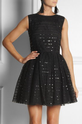 RED Valentino Sequined mesh dress