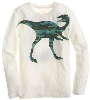 Camo Boys' long-sleeve dinosaur tee