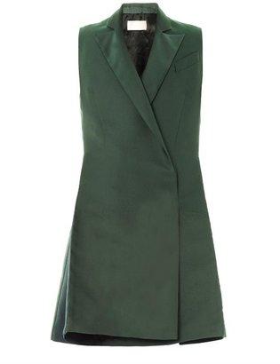 Antonio Berardi Double-breasted duchess-satin coat