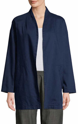 Eileen Fisher Open Front Organic Cotton Jacket