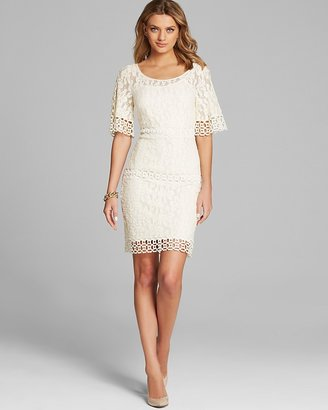 Laundry by Shelli Segal Dress - Bell Elbow Sleeve Lace