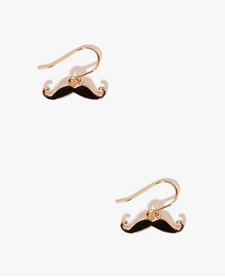 Forever 21 Lacquered Mustache Earrings