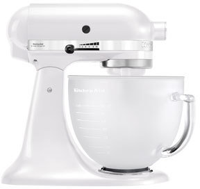 KitchenAid KSM156 Platinum Stand Mixer with Frosted Bowl: Pearl