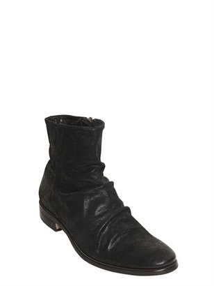 John Varvatos Waxed Shiny Leather Low Boots