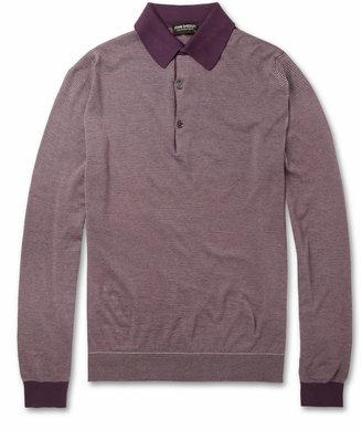 John Smedley Johnson Long-Sleeved Sea Island Cotton Polo Shirt