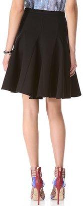 Halston Ponte Circle Skirt