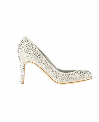 Ann Taylor Perfect Crystal Suede Pumps