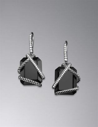 David Yurman Cable Wrap Earrings, Black Onyx