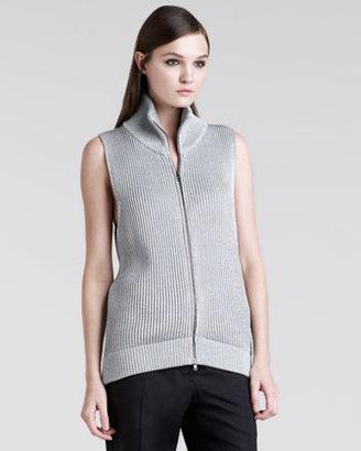 Maison Martin Margiela Metallic-Rib Zip Vest