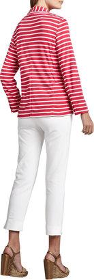 Joan Vass Slim Ponte Ankle Pants, Petite