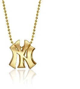 New York Yankees Alex Woo Necklace - Yellow Gold